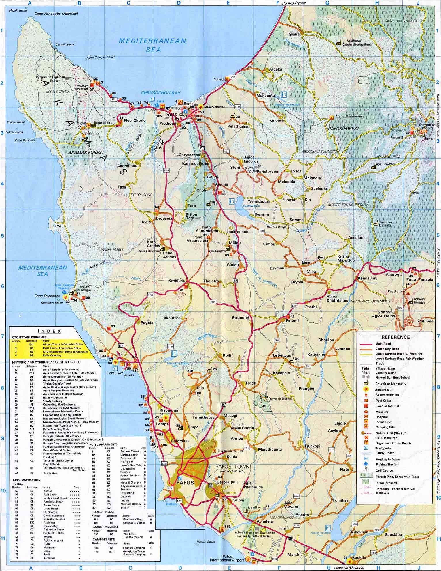 Cyprus Maps Best Maps of Cyprus How to get to